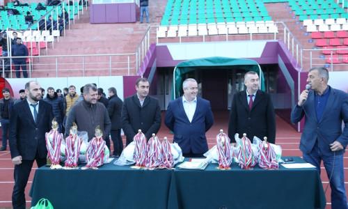 Награждение участников Первенства Чеченской Республики по футболу